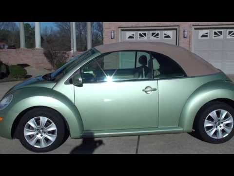 HD VIDEO 2008 VOLKSWAGEN NEW BEETLE USED CONVERTIBLE FOR SALE SEE WWW SUNSETMILAN COM