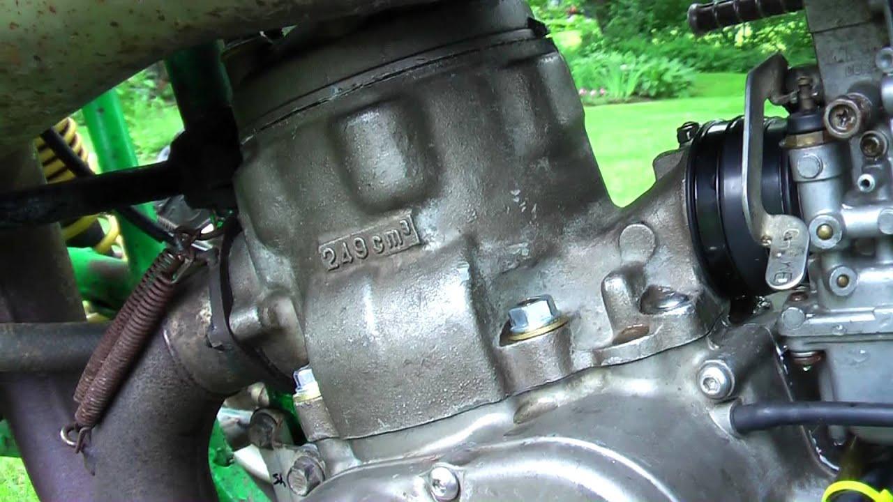 86' lt250r after engine rebuild: idle & rev (full fmf) - youtube