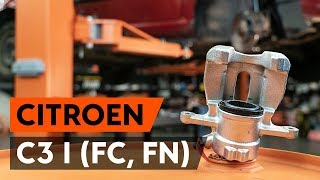 Как да сменим предни спирачен апарат наCITROEN C3 1 (FC, FN) [ИНСТРУКЦИЯ AUTODOC]