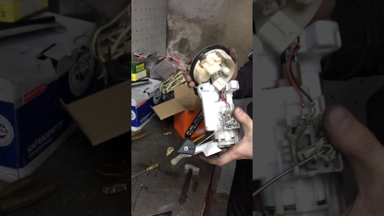 Toyota Corolla e120 замена топливного фильтра Часть 4