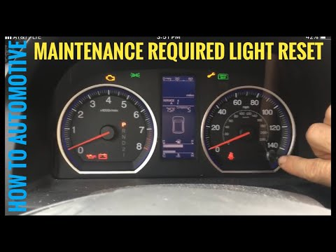 Honda Crv Civic Turn Off Maintenance Required Light How