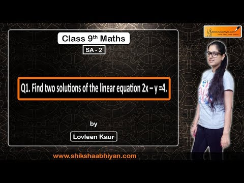 Q1 Find Two Solutions Of The Linear Equation 2x- Y= 4