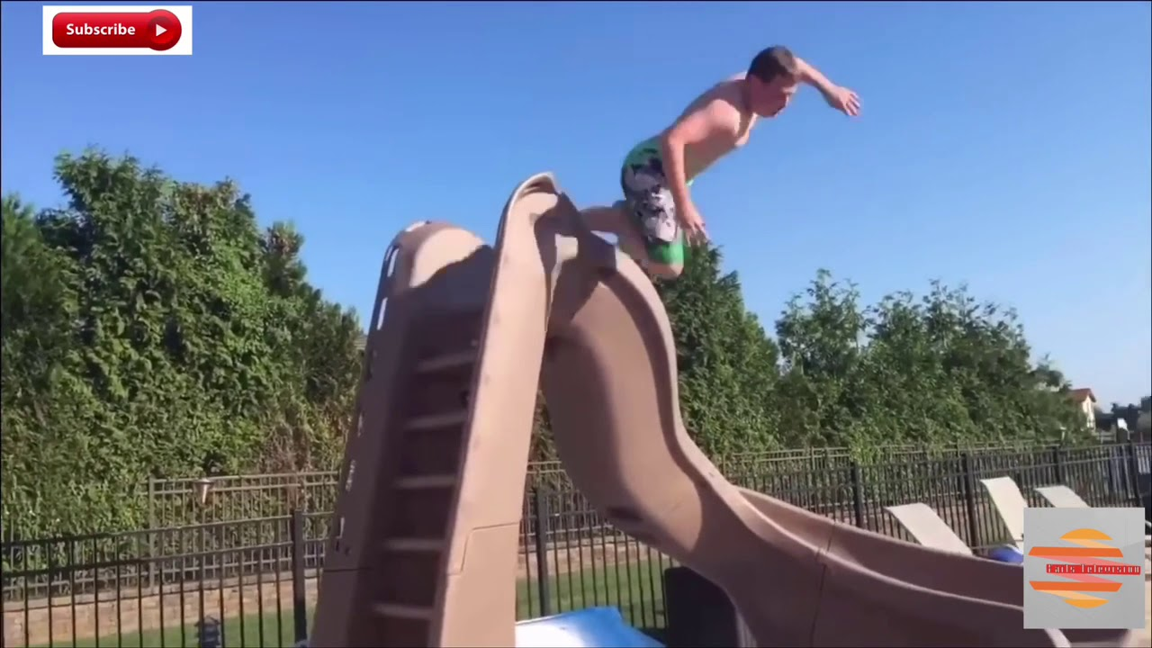 WATER SLIDE FAILS COMPILATION - YouTube