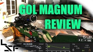 BF4 Gol Magnum Weapon Review | Battlefield 4 Sniper Gun Guide (Sniping Gameplay PC)