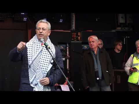 Dr  Mustafa Barghouti at UK National Rally