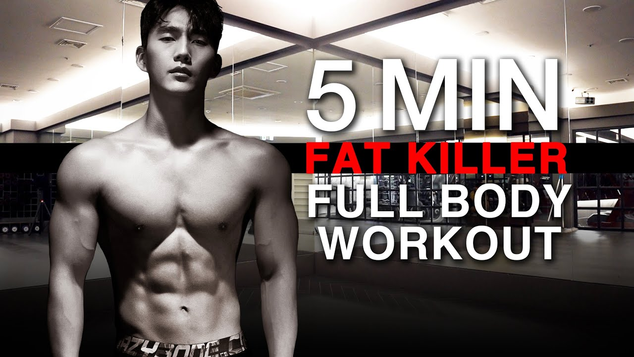 5 MIN FAT KILLER FULLBODY WORKOUT l 체지방 박살 5분 전신 운동
