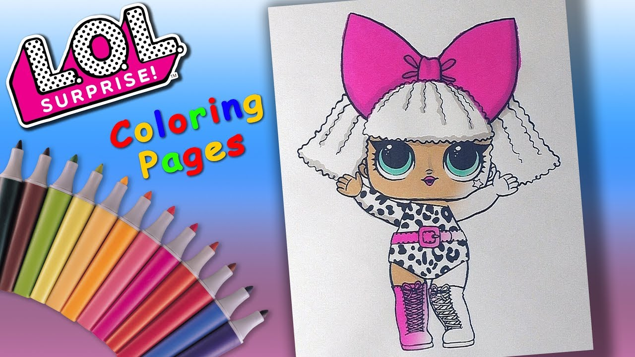 Lol Surprise Doll Coloring Book Lol Doll Diva Coloring For Girls Youtube