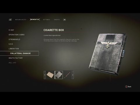 Call Of Duty WW2 Collateral Damage Mementos/Heroic