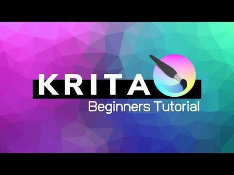 Krita 4.2 Beginners Tutorial - FREE Photoshop Alternative