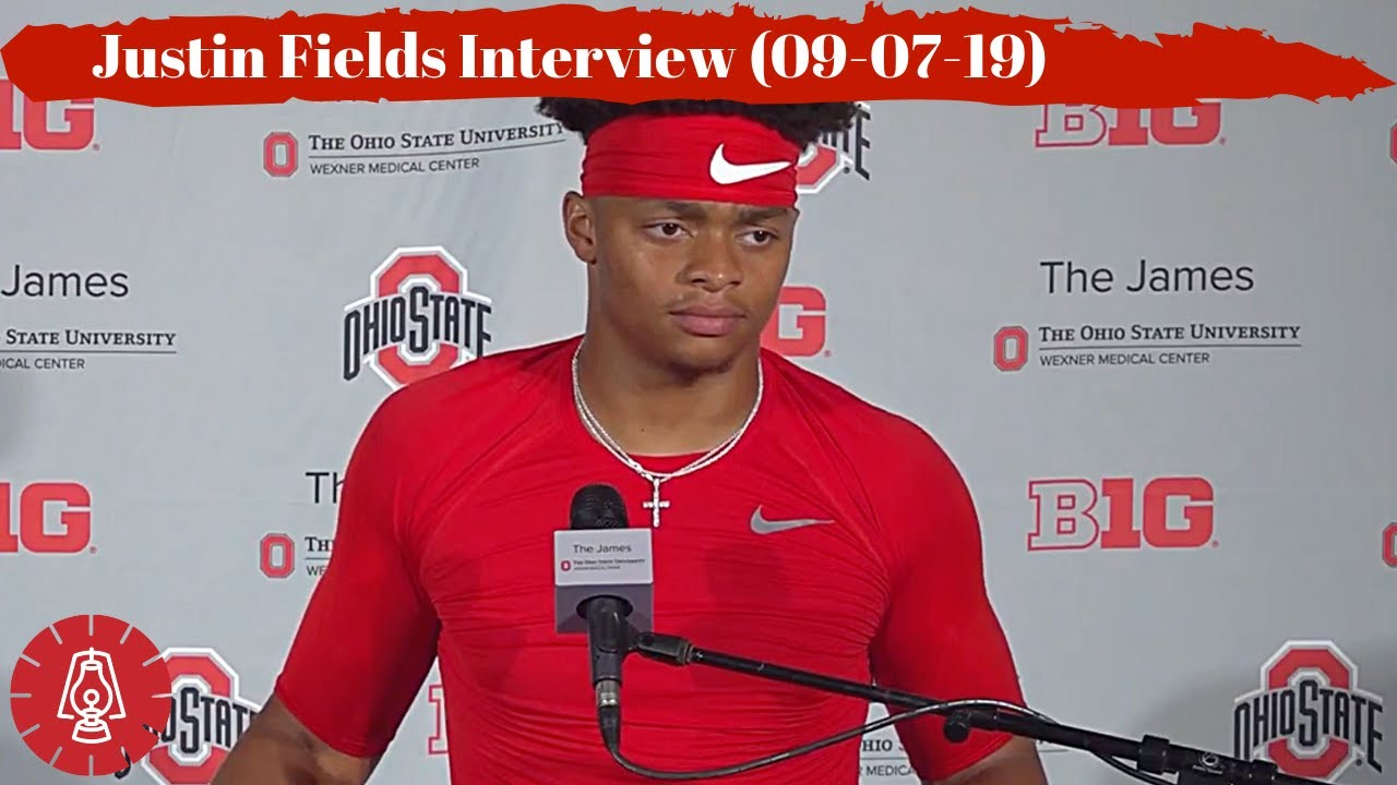 Justin Fields Postgame Interview 09 07 19 Youtube