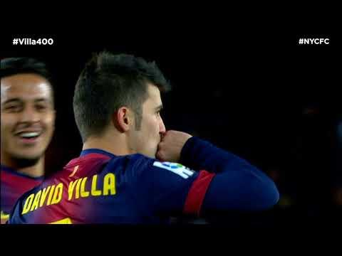 Watch David Villa's 100, 200, 300 & 400th Career Goals   #Villa400