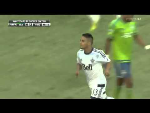 Seattle Sounders v Vancouver Whitecaps (48.10) - Dialogue between AR and referee