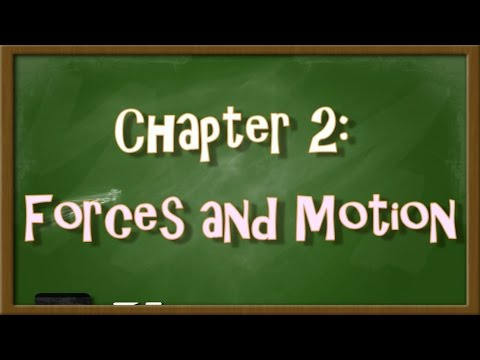 Chapter 2 Forces And Motion Concept Map Youtube