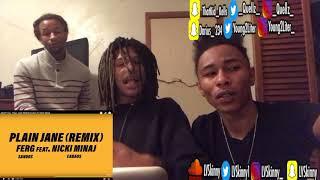 A$AP Ferg Ft Nicki Minaj - Plain Jane REMIX (Reaction Video)