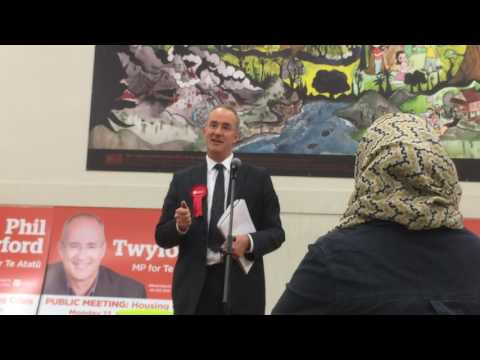 Labour's Phil Twyford's town hall on housing