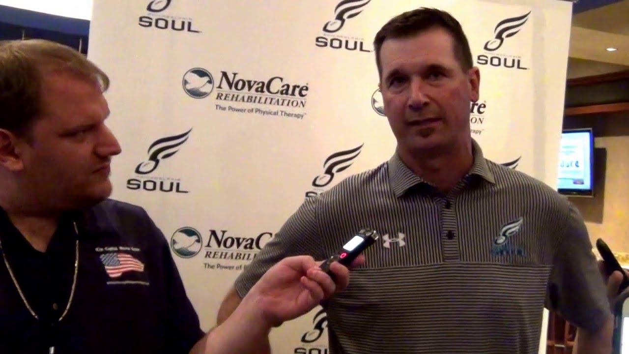 Clint Dolezel Philadelphia Souls Head Coach Clint Dolezel PostGame 52116 YouTube