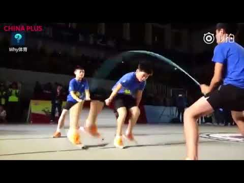 Most Fastest Jump in the World | A 11-Year-old Chinese boy who jumps the rope in the world.