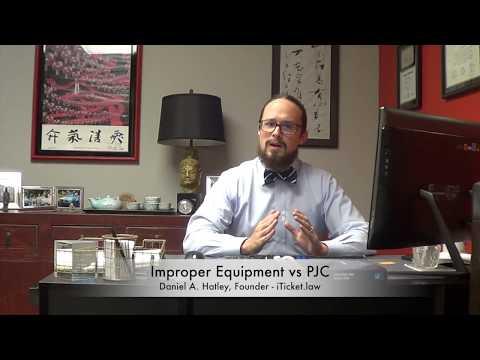 Improper Equipment Vs.  Prayer For Judgement Continued (PJC)
