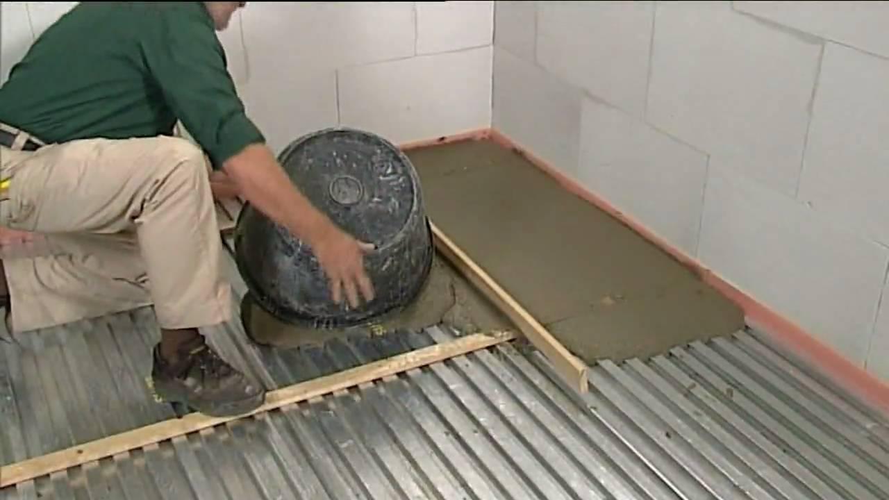 Cement vloer maken