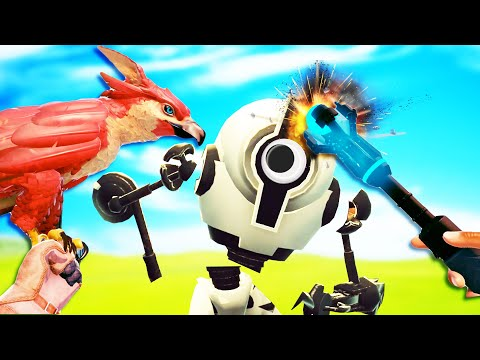 I Got an Awesome Falcon, Beat Up Robots, and Escaped Jail in Falcon Age VR! |
