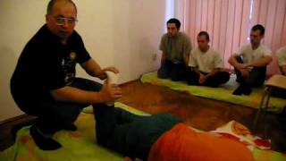 Romanian Monastic osteopathy- foot adustment .avi