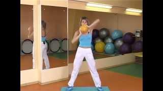 Фитнес: упражнения с мячом.