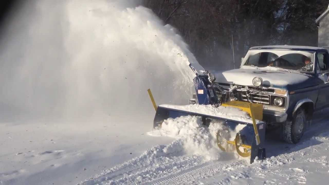 truck mounted snow blower in action 2 doovi. Black Bedroom Furniture Sets. Home Design Ideas