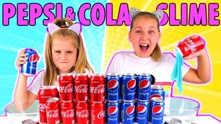 Don't Choose the Wrong COCA COLA or PEPSI SLIME CHALLENGE!!