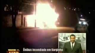Alterosa em Alerta: Ônibus é incendiado em Varginha, cobradora fica com 60% do corpo queimado