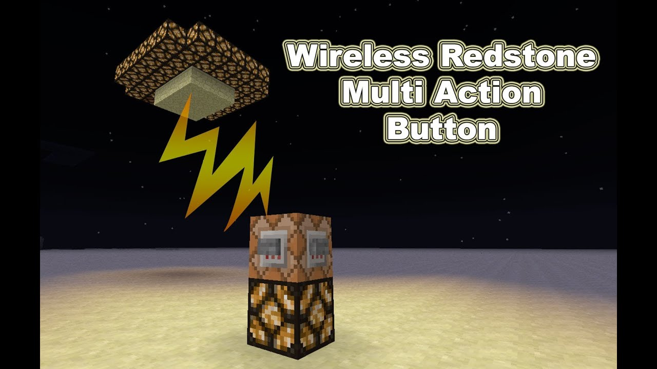 How To Make A Wireless Redstone On Off Switch In Vanilla Minecraft Project Walkthru Digital Clock W 15