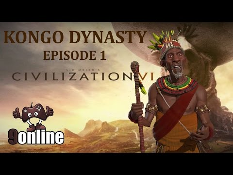 Civilization 6 Kongo Kingdom - The pyramids come to Mbanza Kongo - S1 Ep. 1