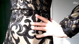 Закрытое вечернее платье со шлейфом Annette Black
