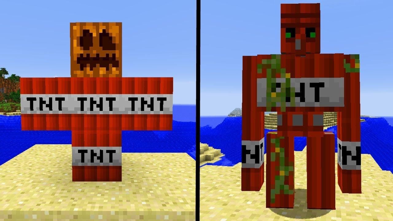 35 Neue Minecraft Golems Extra Golems Minecraft Mod Youtube