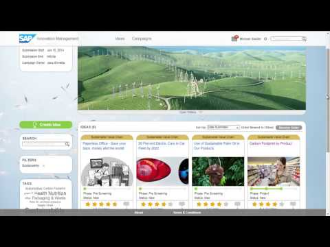 SAP Innovation Management Live Demo