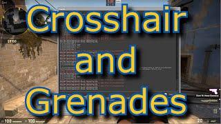 CS GO - Basic Beginners Tutorial E02 Crosshair and Grenades