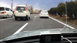2011.3.11 Big earthquake at highway (Fukushima) 東北地方太平洋沖地震 東北道走行中に