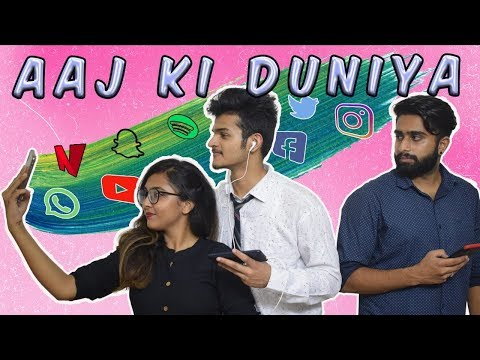aaj-ki-duniya-||-side-effects-of-using-phone-||-comedy-video-by-gangfld
