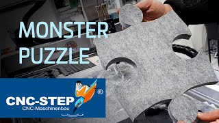 How to cut a monster puzzle piece