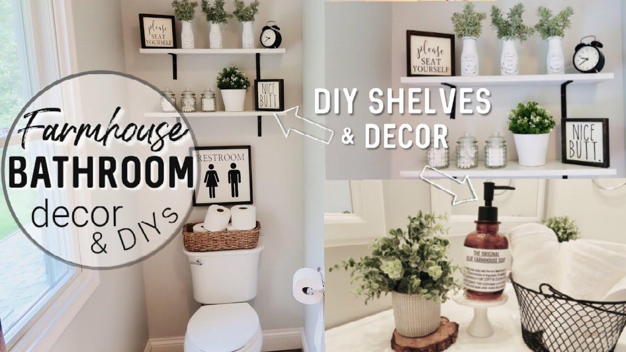 Farmhouse Bathroom Decorate With Me Dollar Tree Diys Farmhouse Decor Youtube