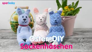 Ostern basteln DIY - Sockenhäschen