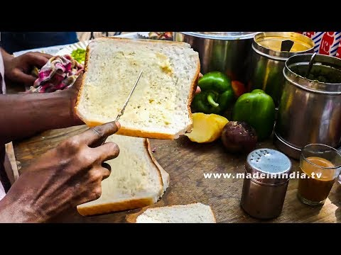 Bombay Masala Toast | Easy To Make Vegetable Sandwich Recipe | MUMBAI STREET FOOD 2016