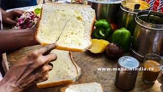 Bombay Masala Toast | Easy To Make Vegetable Sandwich Recipe | MUMBAI STREET FOOD 2018