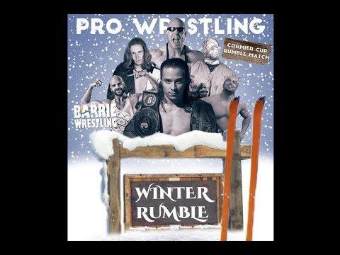 Barrie Wrestling Winter Rumble February 11, 2017