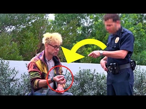 SMOKING in front of a COP PRANK!!! (BAD IDEA!)