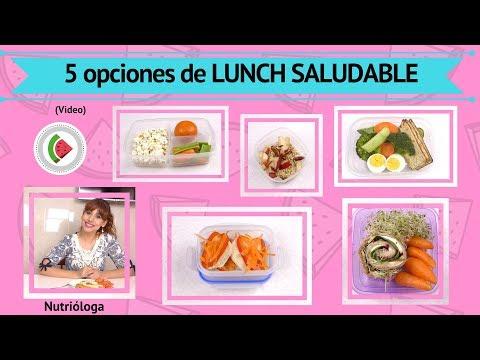 5 Lunchs saludables, desayunos para llevar. Almuerzos/Colaciones