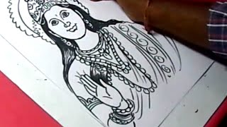 How to Draw LORD PARVATHI DEVI DRAWING for KIDS