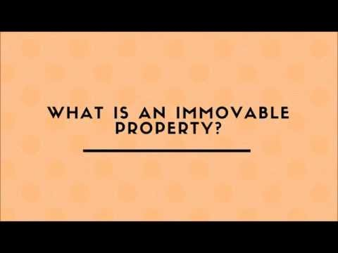 What Is An Immovable Property?