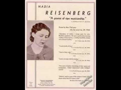 Nadia reisenberg plays Mozart Sonata in A minor K 310