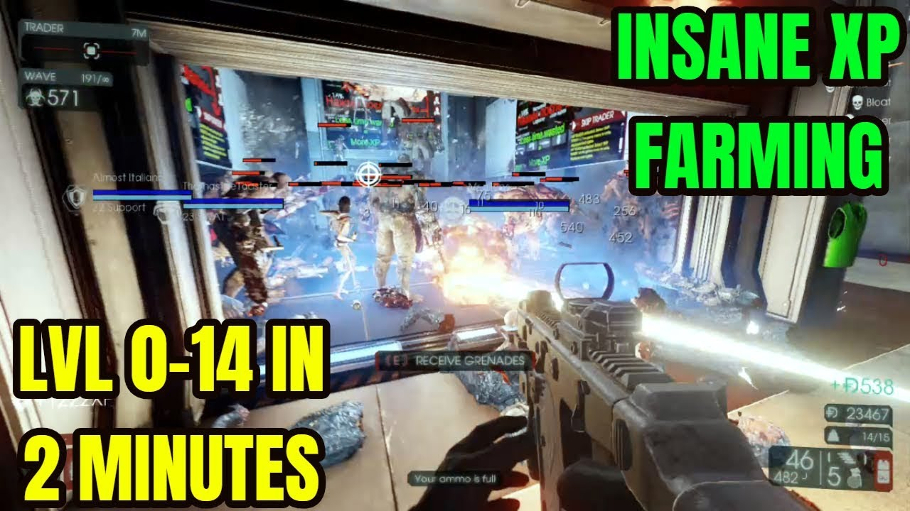 Killing Floor 2 Insane Xp Farming Wave 191 92 Hoe Endless Don T Do This New Players Youtube