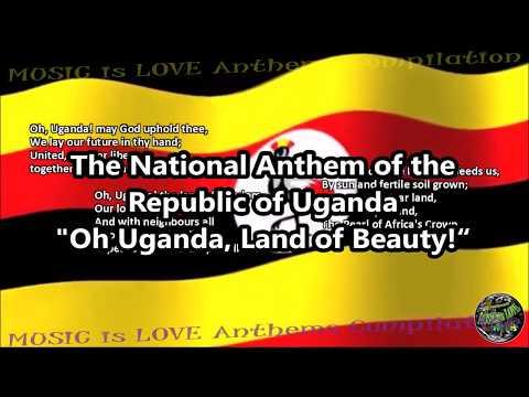 Uganda National Anthem with music, vocal JULIANA KANYOMOZI, and lyrics ENGLISH